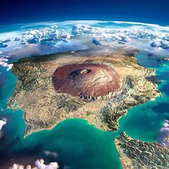 peninsula y olympus mons (retiamirabilia) Tags: mars marte monte olimpo olympus mons península ibérica
