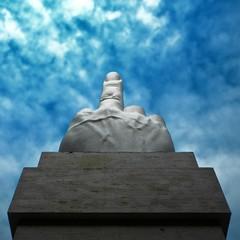 A point of view / Un punto di vista (Giorgio Ghezzi) Tags: finger dito giorgioghezzi mauriziocattalan sculpture scultura