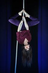 No holds barred (pluckphotography) Tags: myaerialhome aerial performance aerialist circus rope spanishweb upsidedown maria mariayoung