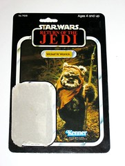 star wars return of the jedi wicket w warrick ewok kenner 1983 cardback 77 back a (tjparkside) Tags: wicket w warrick ewok star wars kenner return jedi basic action figure figures vintage card cardback 77 back 71230 sy snootles max rebo band combat glider assault catapult rancor monster pop collect all green 1983 made hong kong rotj episode vi six 6