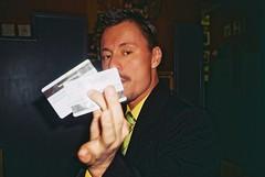 (Nothing is surrender) Tags: man mad crazy madness creditcard johnnydepp actor slovakian bar drunk funny olympusmjuii olympusmju mju olympus