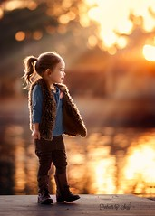 Glow (Portraits by Suzy) Tags: fall autumn color light rim sunset gold golden child childhood profile portrait rays nature natural texture beam pretty beautiful orange blue complimentary portraits by suzy mead las vegas photographer