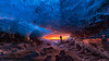Fire & Ice! Literally! (On Explore 2017-01-17) (Sigurdur William Photography) Tags: iceland glacier ice water frozen frost sunset sunrise warm hot man stand cave arctic shots photo guide travel tour wow