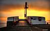 Looe .Banjo  Pier , Sunrise (Jon Brambo) Tags: looe banjo pier east beach canon 450d pancake lense tripod morning sunrise cornwall