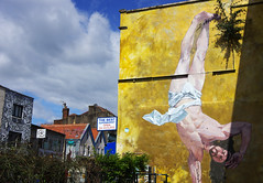 Breakdancing Jesus by Cosmo Sarson at The Canteen (Gregor  Samsa) Tags: england unitedkingdom greatbritain bristol town city settlement may spring exploration trip visit hike hiking walk walking stroll strolling art streetart street graffiti mural painting breakdancingjesus breakdancing jesus cosmosarson cosmo sarson thecanteen the canteen
