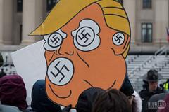 Trump-Inauguration2017-1050694 (TheNoxid) Tags: 2017 bluelens inauguration markdixon parade trump washingtondc swastika disruptj20 inaugurationday2017 notmypresident trumpinauguration