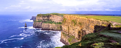 Cliffs of Moher (Dusty Dog Imaging) Tags: ireland countyclare travel cliffsofmoher panorama panoramic velvia linhof 617 6x17 film analogue