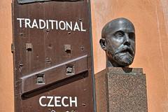 Praga-Zamkowe Schody (marek&anna) Tags: praga praha prague statue sculpture head door
