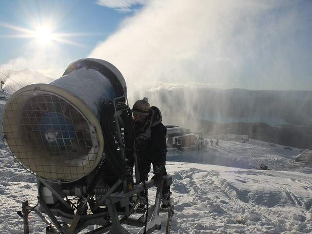 Treble Cone - Snowmaking 1 July 2014