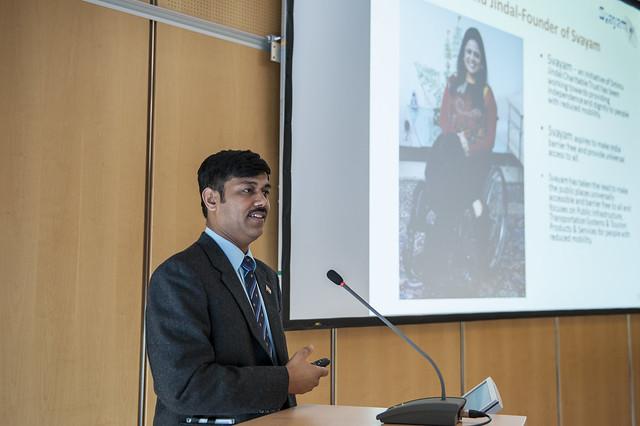 Subhash Chandra Vashishth presenting