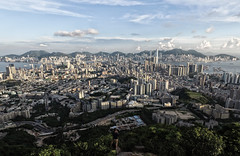 Under my feet (Dronegraphy) Tags: above city mountain building up skyscape landscape hongkong cloudy hill peak citystreets phantom uav kowloon tong beacon density cityview unmanned drone cityskylines uptothesky dji quadcopter