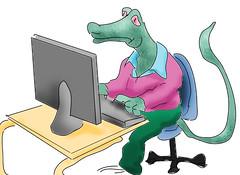 Dragon computer (Robin Hutton) Tags: work computer fun artwork education dragon unhappy robinhuttonart