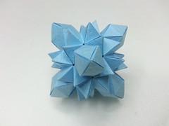 Pangolin polyhedron (hyunrang) Tags: origami cube hur pangolin snub paperstrip