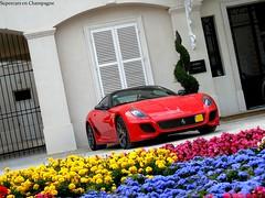 GTO & Flowers... (Thibaut VT) Tags: flowers red car italian ferrari voiture gto supercar epernay moetchandon 599 lorangerie
