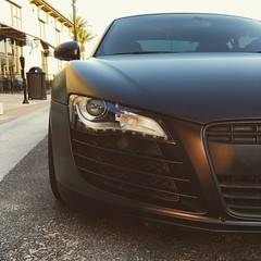 Audi R8 (Brian Johhnson) Tags: car metal race gun gray bmw m3 audi r8
