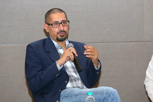 Somak Ghosh during Driving Social Innovation panel discussion