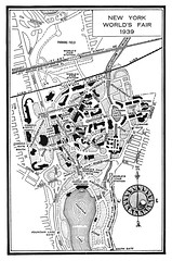 1939 worlds fair map (Al Q) Tags: new york city project map fair writers worlds guide federal 1939