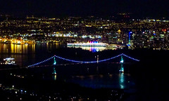 Night View on Pride Parade Weekend (Mariko Ishikawa) Tags: canada vancouver britishcolumbia lookout nightview northvancouver
