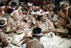 27-547 (ndpa / s. lundeen, archivist) Tags: costumes woman color men film festival fiji 35mm dance costume clothing women sitting song stage traditional nick group performance culture suva southpacific tradition 1970s 27 performers 1972 seated headdress dewolf oceania pacificartsfestival pacificislands festivalofpacificarts southpacificislands nickdewolf photographbynickdewolf festpac pacificislandculture southpacificfestival reel27 southpacificartsfestival southpacificfestivalofarts fiji72