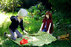 (Jane Kolyadintseva) Tags: summer sun green love kids forest doll picnic outdoor spirit illusion romantic bjd mystic bjddoll