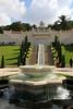 The fountain near the base (ejhrap) Tags: bahaishrineandgardens haifa israel garden tree formalgarden fountain