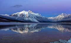 Glacier Park Blue Hour (rebeccalatsonphotography) Tags: montana glacier np nationalpark gnp bluehour evening mountains snow winter lake mcdonald rebeccalatsonphotography outdoors landscape scenery canonef24105mmf4lisusm january 2017