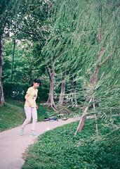 Move. (Trek Lin) Tags: street streetphotography streetsnap snapshot color girl wind move