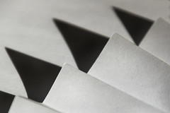 Just white paper (wendel68) Tags: angles lines macromonday justwhitepaper macro paper white shadows