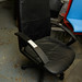 Leather high back swivel chair