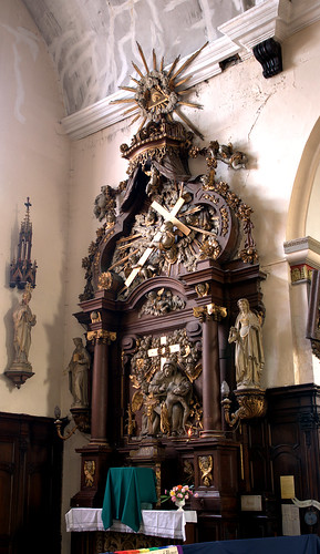 Hondschoote, Nord, Flandres, église Saint-Vaast, altar of 7 sorrows