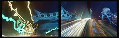 i keep watching the sky (m_travels) Tags: diptych longexposure multiple doubleexposure filmphotography analog freeway blue sky leopardshark aquatic underwater art surreal jellyfish animals strange overlappingframes lighttrails lightpainting night experimental fish sooc noedit crazystuff