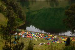 Colorful Camp, Bromo-Tengger-Semeru National Park (elly.sugab) Tags: mountain camp camping hiking tent lake ranukumbolo semeru rainforest lumajang
