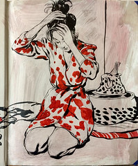 Part of a Collector's Edition Drawing. #inkdrawings... (Dorian Vallejo) Tags: art fine drawing figure mixed media drawings oil painting dorian vallejo