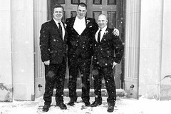 The Groom & Groomsmen (WilliamND4) Tags: wedding groom church snow blackandwhite men groomsmen monochrome nikon d810