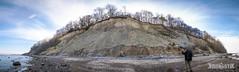 Baltic Sea Cliff (Panorama) (Kibonaut) Tags: baltic kibonaut ostsee sea cliff steilküste shore kibonautik outdoorculture hiking hike wandern küste strand beach panorama lightroom cold winter walk steep