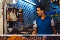 Fez medina, Morocco (Naomi Rahim (thanks for 4 million visits)) Tags: fes fez morocco maroc africa northafrica 2016 travel travelphotography nikon nikond7200 souk medina wanderlust man shopkeeper seller stall market proud