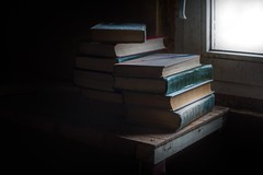 Book's (Di Daу) Tags: book whrite read closer darkness abandoned sun light