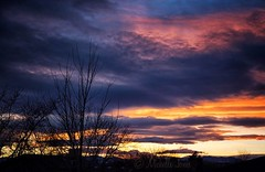 January 28, 2017 - Colorful Thornton sunset. (Michelle Jones)