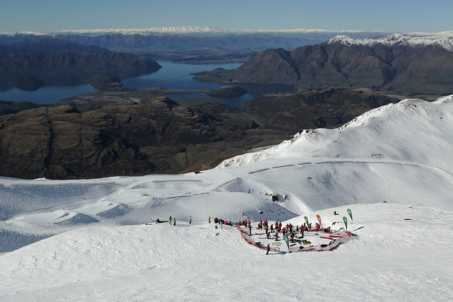 DB Export Banked Slalom 2014 - Treble Cone - Start area