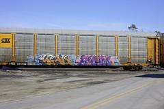 Werk Know (BombTrains) Tags: road railroad art train bench lesen graffiti gut paint know joke tag graf rude rail spray graff werk csx autorack fr8 2011 benching ttgx 971256 cromafreight