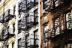 Row Houses and Fire Escapes (PAJ880) Tags: new york nyc fire manhattan soho escapes