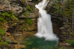 Blakiston Falls, Waterton Lakes National Park (synaesthesia24) Tags: summer mountain canada nature water pool landscape waterfall alberta watertonlakesnationalpark rockflour glacialflour blakistonfalls