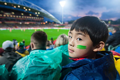 in sync (nzfisher) Tags: family boy newzealand kids canon children football kid child bokeh stadium auckland northshore pitch 24mm boyhood northharbourstadium