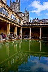 Inside the Roman Baths (Mellisande) Tags: colour water abbey bath sandstone roman baths hdr