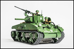 COBI M4A1 Sherman and Tiger I Comparison (Adam Purves (S3ISOR)) Tags: world brick history soldier army war tank lego military tiger small wwii battle german ww2 block sherman cobi panzer m4a1 wermacht 2462 2464
