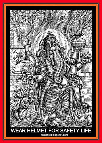 WEAR HELMET FOR SAFETY LIFE - Anikartick artist