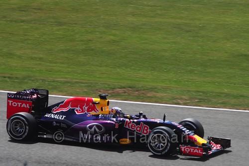 Daniel Ricciardo in qualifying for the 2015 British Grand Prix at Silverstone