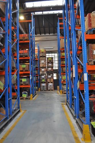 Hochregallager im SBB Industriewerk Yverdon