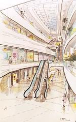 영등포_Shopping Mall_Seoul (velt.mathieu) Tags: building mall shopping sketch korea croquis 한국