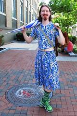 Artscape 2015, Baltimore, Maryland (A CASUAL PHOTGRAPHER) Tags: men portraits humor festivals maryland baltimore dresses crossdressers umbrellas womensclothing artscape goatees clothingdress